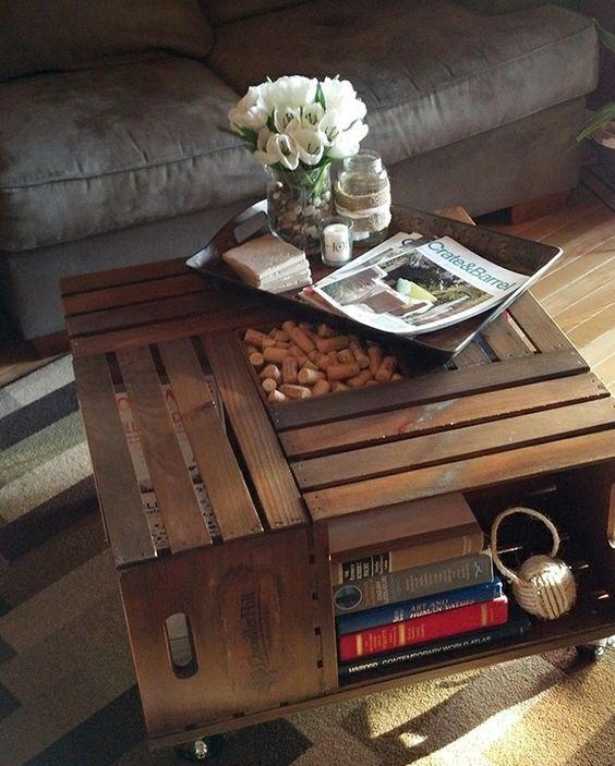 Weinkisten Tisch Obstkisten Tische Shop DIY Ideen Inspirationen