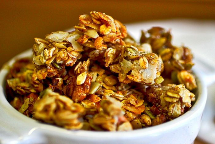 It's time to ditch that store bought granola. This granola is sweet salty buttery nutty perfection. MmMMmmm. we warned you. Enjoy :-)