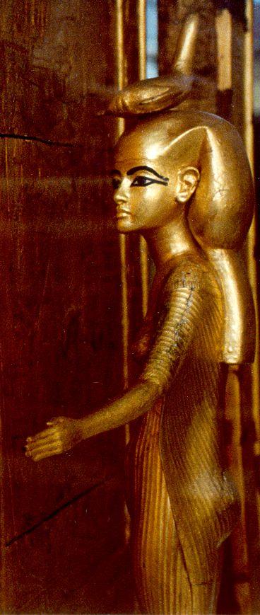 Divinità Selkis: Corona composta da uno scorpione posizionato sulla testa in modo piatto. Da non confondere con la corona della dea Iside-Hededyt