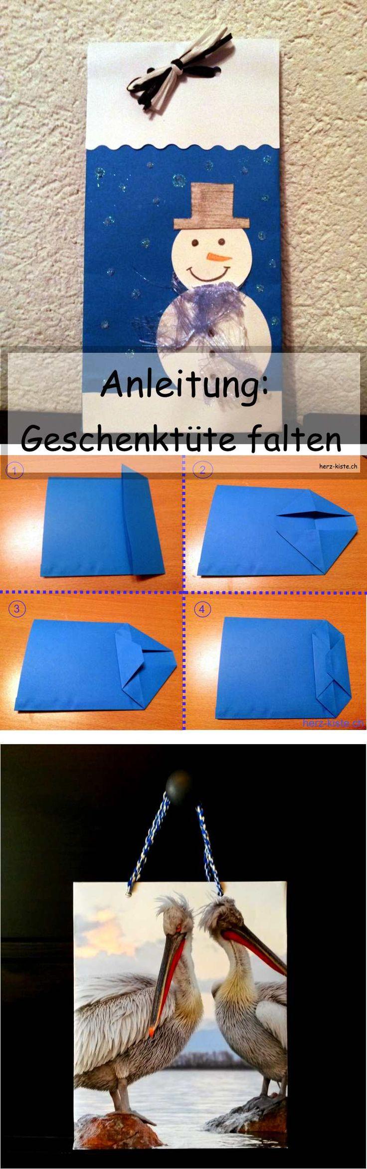 Schritt für Schritt Anleitung: Geschenktüte falten