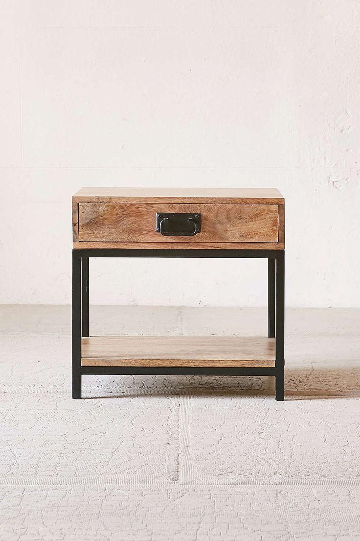 Casper Industrial Wooden Nightstand - Urban Outfitters