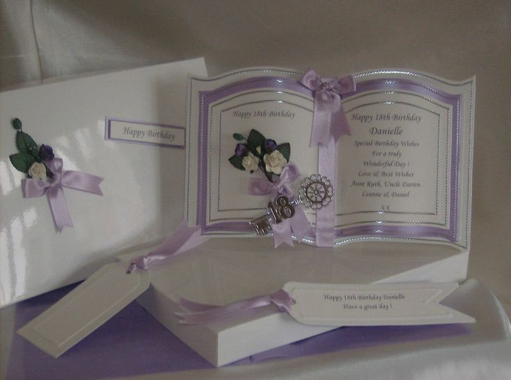 Handmade Luxury Bookatrix 18th 21st Daughter Birthday Card