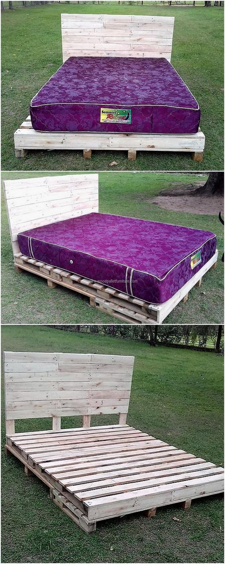 Bed is one of the furniture pieces which areexpensive, but we can solve this issue if someone can't afford to buy a new bed. Take the pallets and reuse them by restyling them into a reclaimed wood pallet bed.