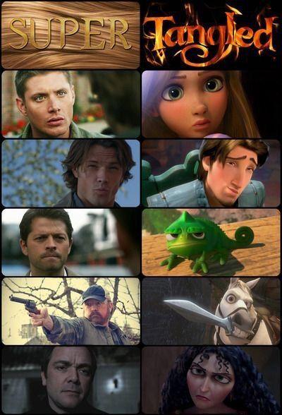 Supernatural/Disney: Crowley isn't that bad ;)