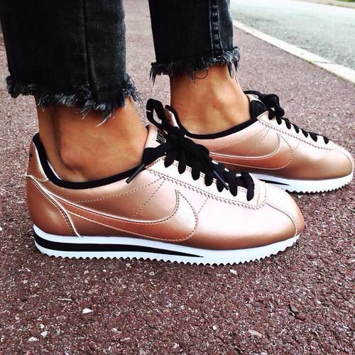 Nike rose gold trainers