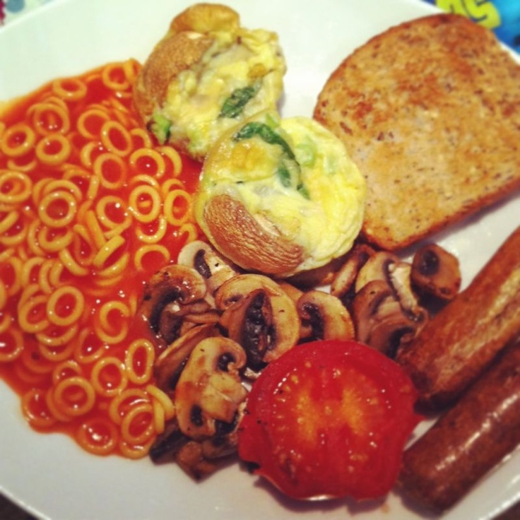 Perfect slimming world breakie on a green day #quorn sausage