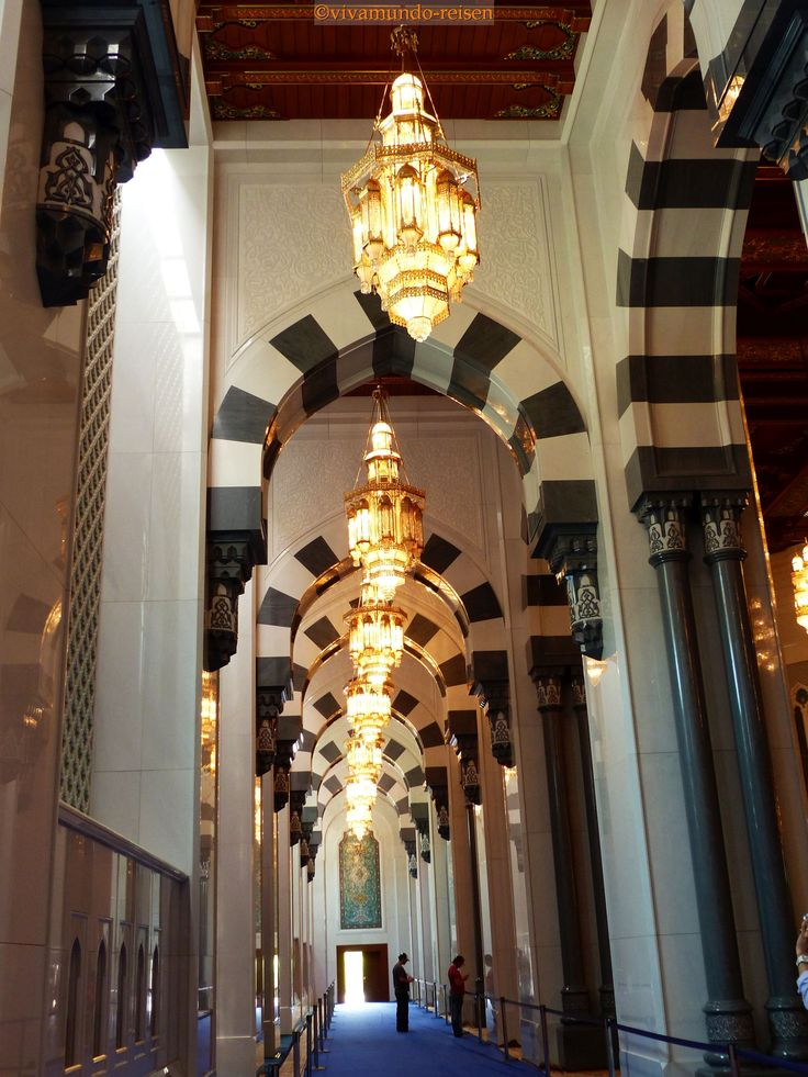 Sultan Qaboos Moschee in Muscat