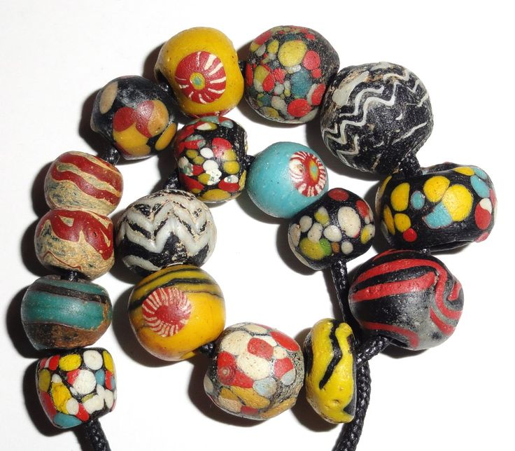 Superb Ancient Antique Islamic Glas Color Beads. #islamicart #islamicbead #beads