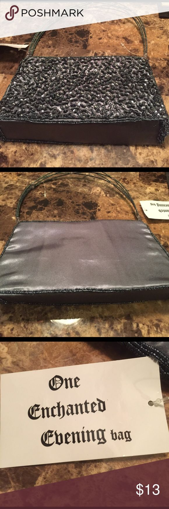 Evening Bag With Beaded Embroidery Dark Gray With Nex Hawaii Furniture Store