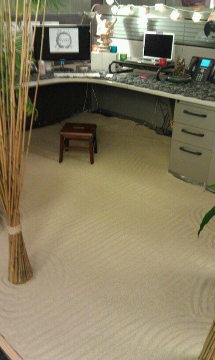 Zen garden office prank