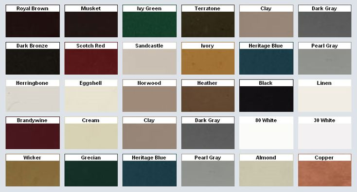 Mastic Vinyl Siding Color Chart Click On The Image To
