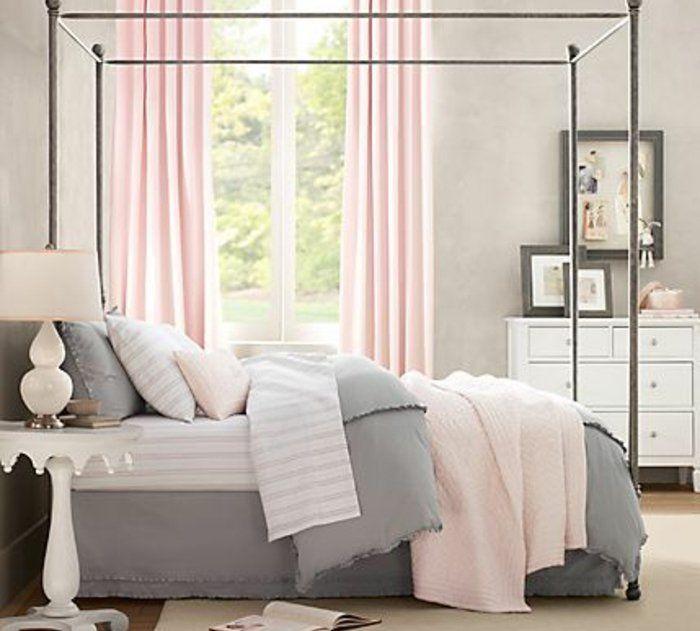 Les 25 meilleures id es concernant rideaux roses sur pinterest chambre f mi - Couleur murs chambre ...