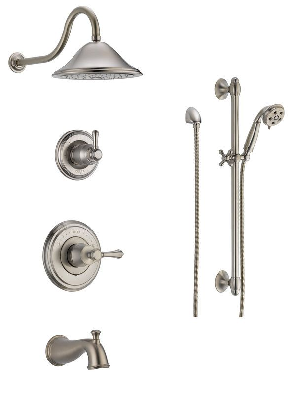 View The Delta Dss Cidy 1404 Monitor 14 Series Pressure Balanced Tub And Shower System With Head Hand Slide Ba