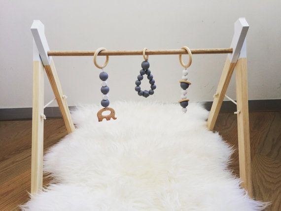 Baby Accessories Wooden Baby Play Gym / Timber Playgym / door MyLittleGigglesMelb