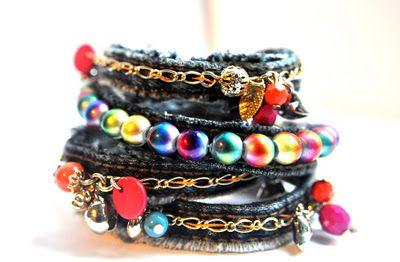Denim bracelet - tutorial