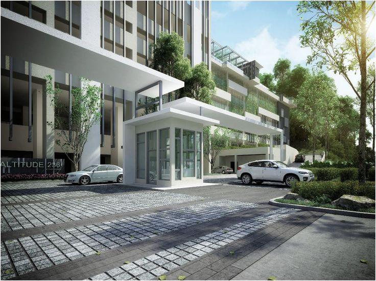 Condominium entrance design pesquisa google porticos for Home gateway architecture