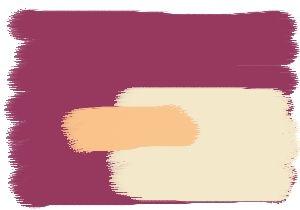 Farbgestaltung Für Ein Wohnzimmer In Violett Orchidee, Kombiniert Mit Den  Farben Cashmere Und Papaya.