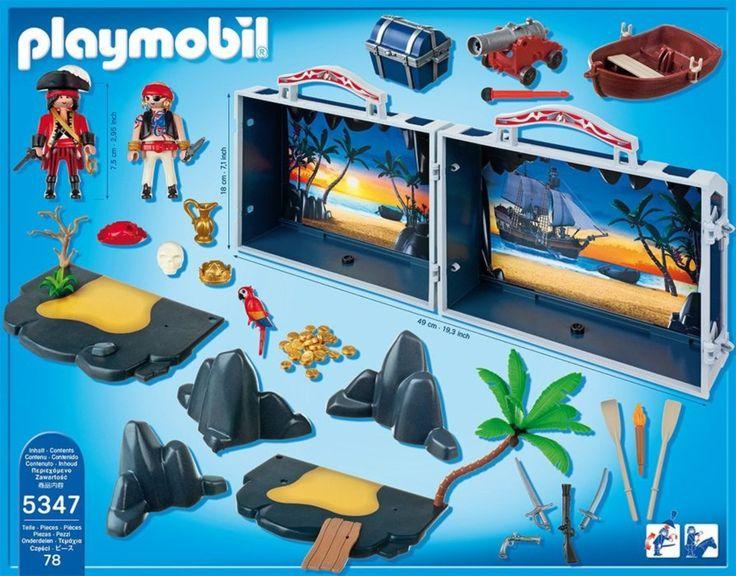 Playmobil 5347 Přenosná pirátská pokladnice | Stavebnice-hry.cz