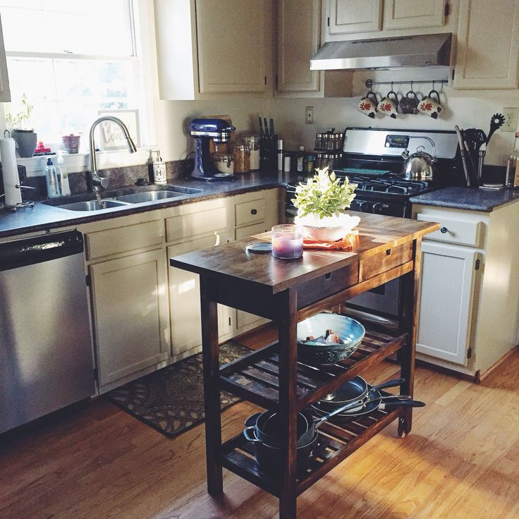 forhoja kitchen cart ikea hack diy stain project