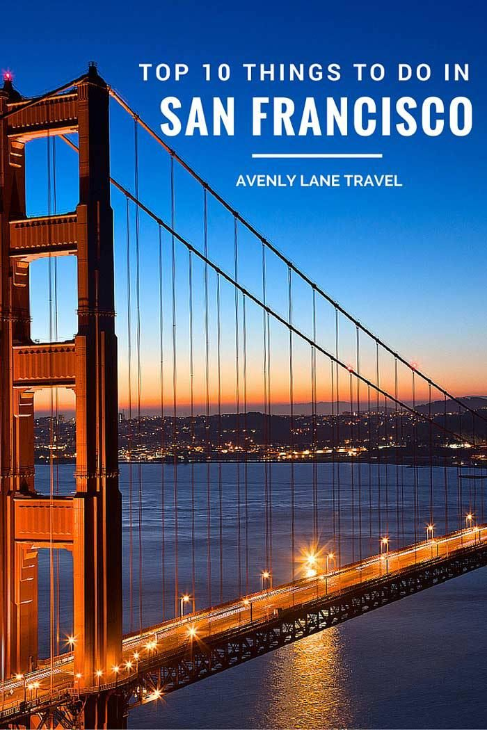 When most people think of San Francisco, they think of an ultra-liberal population and the start of the hippie movement. Those perceptions are not wrong, but even if you are not liberal or a hippie, San Francisco is a treasure trove of unique things to see and do. Top 10 Things to do in San Francisco - Read more on Avenly Lane Travel!