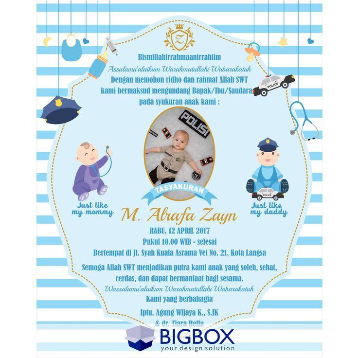 pin oleh bigbox design di aqiqah invitation  kartu kartu