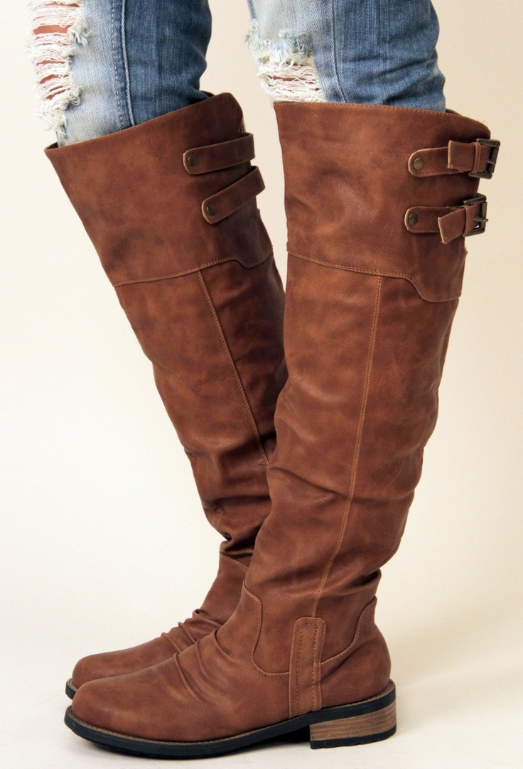 42 best Shoes- Brown Boots images on Pinterest