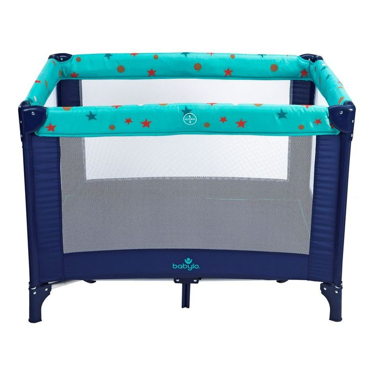 The Babylo comfortable travel Cot has several multifunctions. It is suitable for use as playpen also. There is a secondary lock for extra safety and has an easy open and fold system. The Babylo travel cot has a carry bag with handles for easy transportation. Comes with a padded base mattress.Suitable from birth.