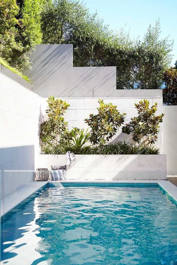 Wonderful Small Backyard Pool Small Plunge Pool Design Ideas Landscaping Ideas Pool  Deck Decorating Photo