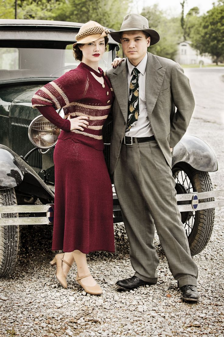 """Holliday Grainger & Emile Hirsch in """"Bonnie and Clyde: Dead and Alive"""" miniseries"""
