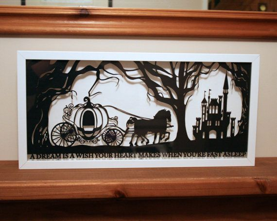 Cinderella's Dream Papercut by StudioCharley on Etsy, £115.00