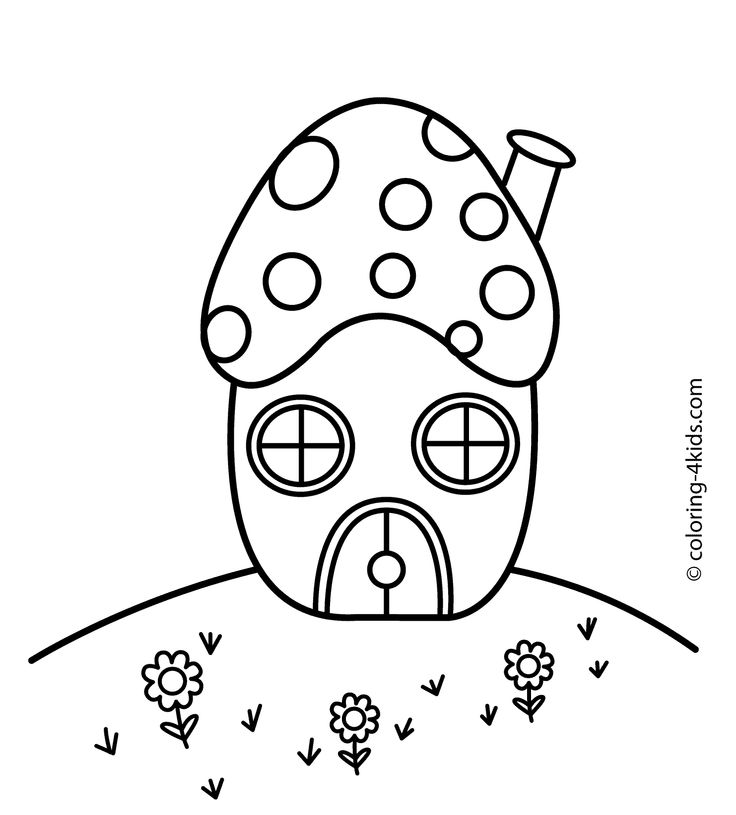 coloring pages of shrooms - photo#33