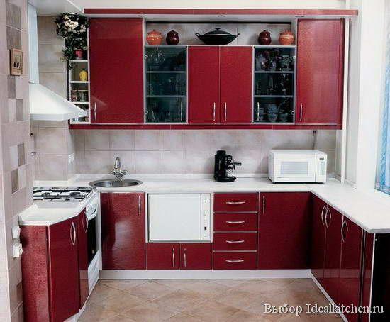 расстановка мебели на очень маленькой кухне - фото