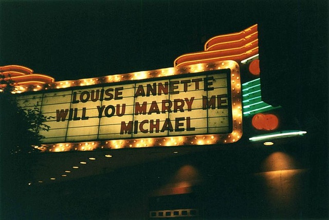 marriage proposal  by Whiteside Theatre, via Flickr