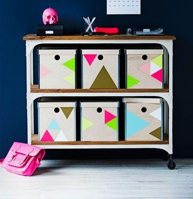 IKEA HACKS - Painted PRANT boxes