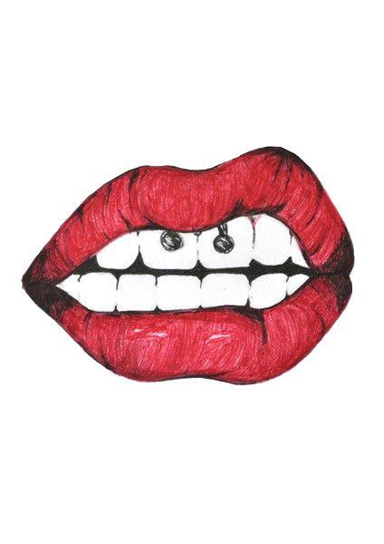 Tumblr Static Lips by iconstinukok ...