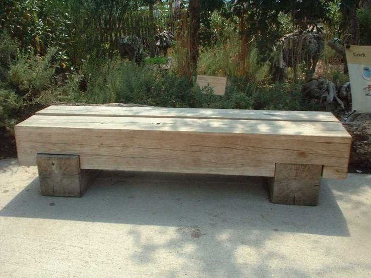 Simple bench made from Railway Sleepers