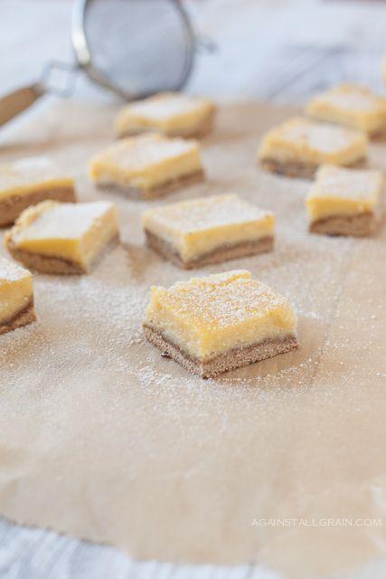 Paleo Lemon Bars - the tarter the better! #food #paleo #grainfree #glutenfree #dairyfree #dessert #snack #lemonbars