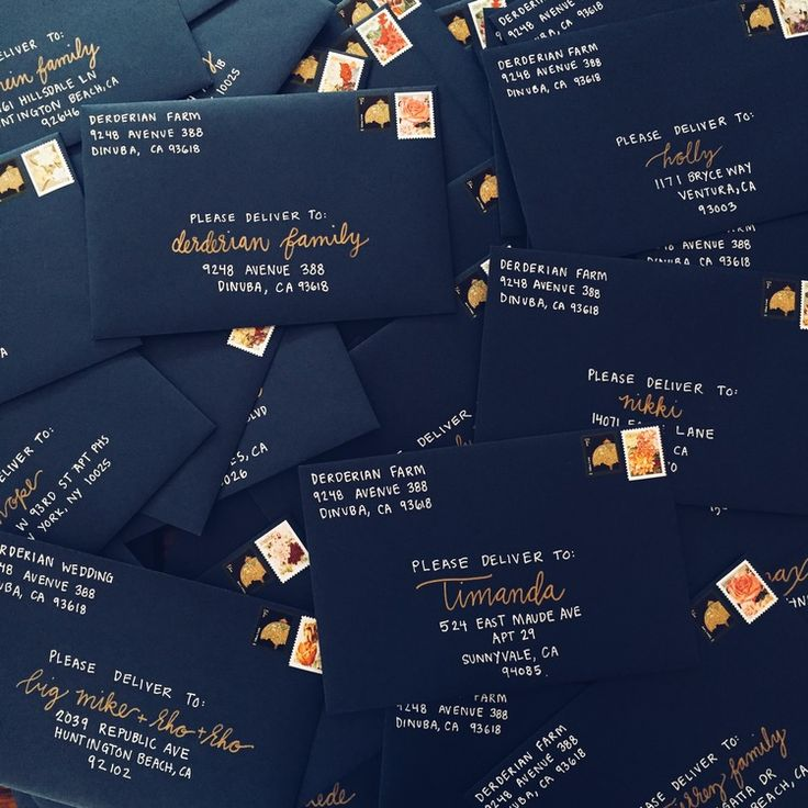 NAVY + GOLD theme for a Willow & Wine client's wedding invitation suite