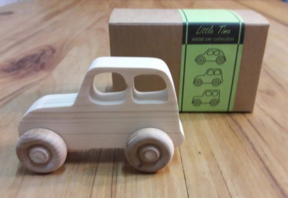 hand made wood toy car made off pine