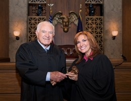 The Peoples Court -- (1981-present). Joseph A. Wapner (1981-1993), Ed Koch (1997-99) and Marilyn Milian (2001-present). Bailiff: Rusty Burrell.