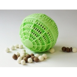 Eco Wash Laundry Ball. Great for sensitive skin like Eczema, Allergy, Dermatitis & Psoriasis.  Perfect for use in grey water systems.  Save money & the environment! Last around 1000 washes!!!  www.allerchic.com.au
