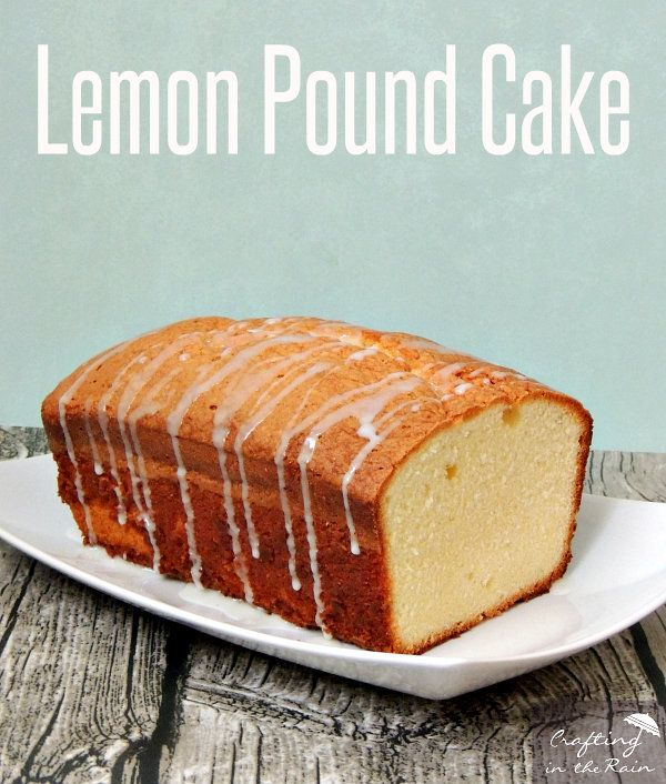 Lemon Pound Cake Recipe with Country Time Lemonade Starters | Crafting in the Rain