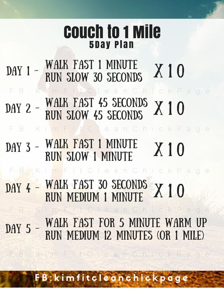 Expect to be able to run 1 mile by the end of the week! Is it possible? I'll have to try it out.