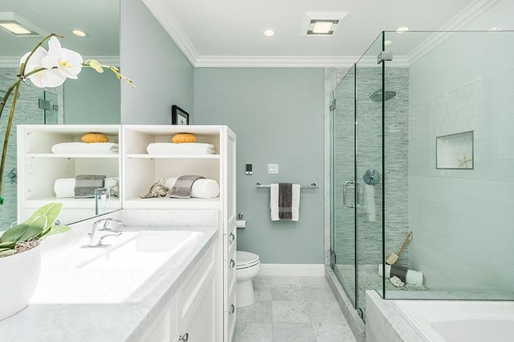 Contemporary Full Bathroom With Flush Light Flat Panel