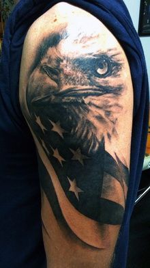 1000 ideas about american flag tattoos on pinterest for Tattoo shops in winston salem nc