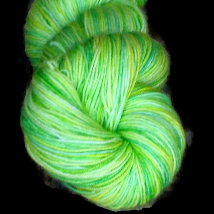 Yellow Green Superwash Merino Fingering Yarn - Green Hand Dyed Yarn - Yellow Fingering Weight Merino Yarn - Spring is Here Sock Weight Yarn