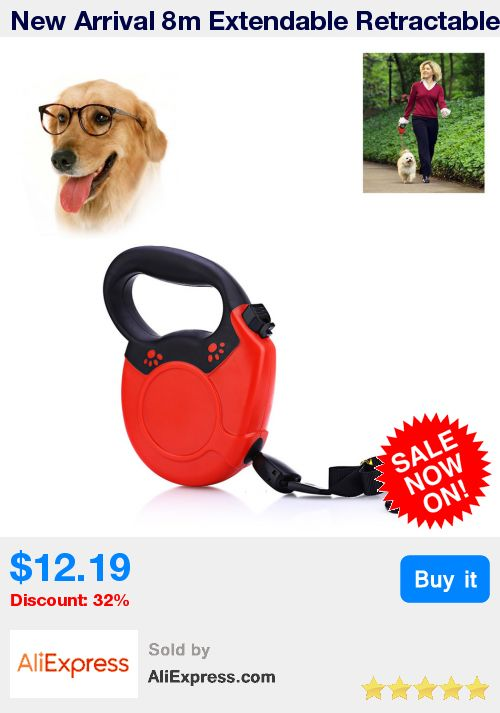 New Arrival 8m Extendable Retractable Dog Training Lead Leash Dog Harness Durable Steady Pet Accessories For Medium Large Dog * Pub Date: 09:09 Apr 11 2017