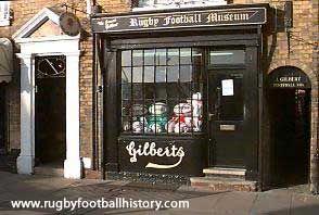 gilbert shop Webb Ellis Rugby Museum (Formally Gilbert workshop). 5 St. Matthews Street, Rugby.