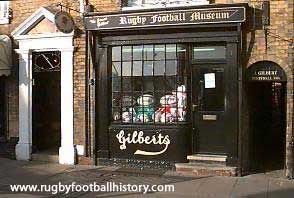 gilbert shop Webb Ellis Rugby Museum (Formally Gilbert workshop). 5 St. Matthews Street, Rugby.