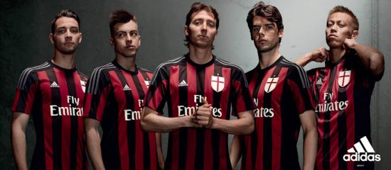 AC Milan's official 2015-16 home kit launch.